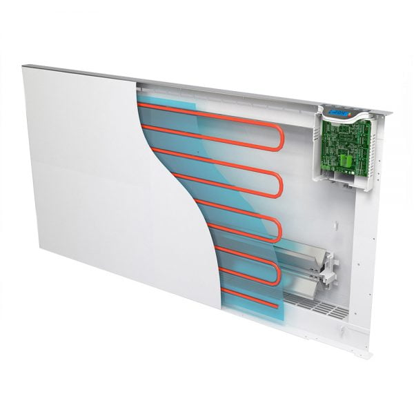 Radialight Klima Dual Therm, Electric Heater / Wall Mounted Radiator, Flat Panel with Timer, Thermostat